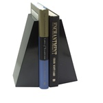Jet Black Marble Professional Bookends