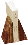 Amber Marble Onyx Taper Bookends