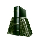 Jade Marble Taper with Bevel Bookends