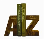 Marble Amber Onyx A To Z Bookends