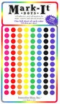 "1/4"" Diameter Multicolored Map Dots - 960 Pieces"