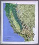 Raised Relief Map of California