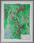 Raised Relief Map of Rocky Mountain National Park S Series