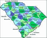 Laminated Map of Orangeburg County South Carolina