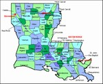 Laminated Map of Pointe Coupee Parish Louisiana
