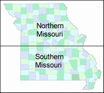 Laminated Map of Mississippi County Missouri