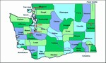 Laminated Map of Cowlitz County Washington