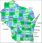 Laminated Map of Shawano County Wisconsin