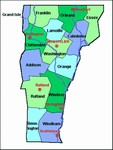Laminated Map of Windham County Vermont