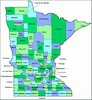 Laminated Map of Roseau County Minnesota