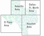 Laminated Map of Harris County Texas