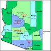 Laminated Map of Yavapai County Arizona