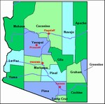 Laminated Map of Coconino County Arizona