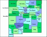 Laminated Map of Chaves County New Mexico
