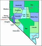 Laminated Map of Esmeralda County Nevada