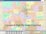 Colorado State Zip Code Map with Wooden Rails