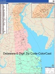 Delaware State Zip Code Map with Wooden Rails