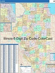 Illinois State Zip Code Map with Wooden Rails