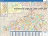 Kentucky State Zip Code Map with Wooden Rails