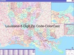 Louisiana State Zip Code Map with Wooden Rails