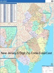 New Jersey State Zip Code Map