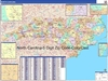 North Carolina State Zip Code Map with Wooden Rails