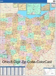 Ohio State Zip Code Map with Wooden Rails