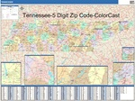 Tennessee State Zip Code Map with Wooden Rails