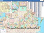 Virgina State Zip Code Map with Wooden Rails