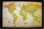 Lightravels Illuminated World Map Antique