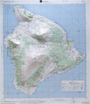 Raised Relief Map of Hilo Hawaii, Bumpy Maps