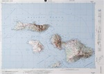 Raised Relief Map of Maui Hawaii, Bumpy Maps