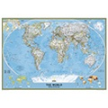 National Geographic World Political Map - Mounted, Laminated or Mural Size