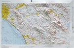 Raised Relief Map of Santa Ana California, Bumpy Maps