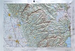 Raised Relief Map of Chico California, Bumpy Maps