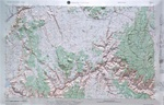 Raised Relief Map of Grand Canyon, Bumpy Maps