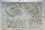 Raised Relief Map of Montrose Colorado, Bumpy Maps