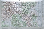 Raised Relief Map of Durango Colorado, Bumpy Maps
