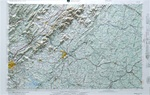 Raised Relief Map of Roanoke Virginia, Bumpy Maps