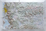 Raised Relief Map of Salt Lake City Utah, Bumpy Maps