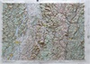Raised Relief Map of Glens Falls, Bumpy Maps