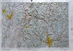 Raised Relief Map of Albany, Bumpy Maps
