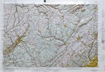 Raised Relief Map of Scranton, Bumpy Maps
