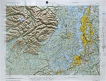 Raised Relief Map of Seattle Washington, Bumpy Maps
