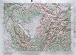 Raised Relief Map of Grangeville, Bumpy Maps