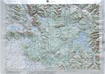 Raised Relief Map of Ashton, Bumpy Maps