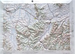 Raised Relief Map of Bozeman Montana, Bumpy Maps