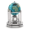 3 Inch Galleon Bahama Blue Rotating Globe - Silver Base