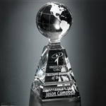 6 Inch Global Pyramid Globe Award