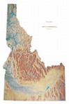 Raven Wall Map of Idaho